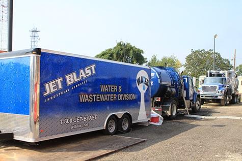 Jet Blast Water & Wastewater Division Truck